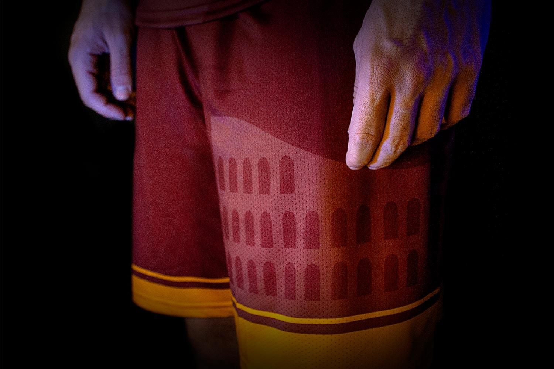 Pantaloncino di calcio a 5 di Lupi Roma Outsport